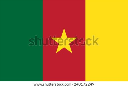 flag of Cameroon - stock vector