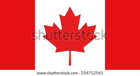 Flag of Canada Vector  - stock vector