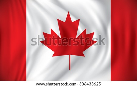 Flag of Canada - vector illustration - stock vector