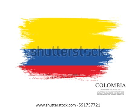 Flag of Colombia, brush stroke background