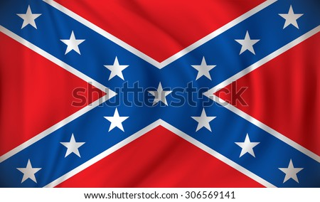 Flag of Confederate - vector illustration - stock vector