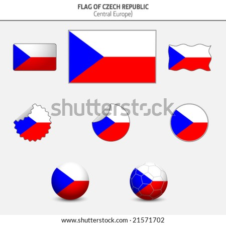 Flag of Czech Republic - stock vector