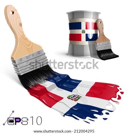 Flag of Dominican Republic - stock vector