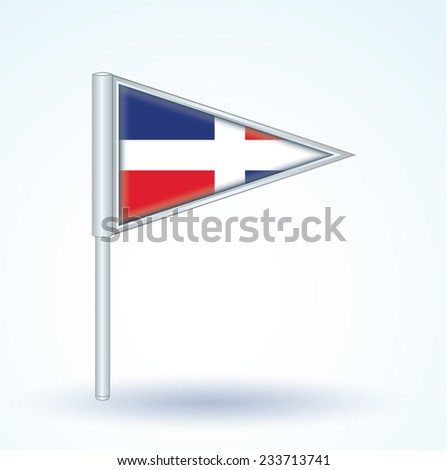 Flag of dominican republic, vector illustration