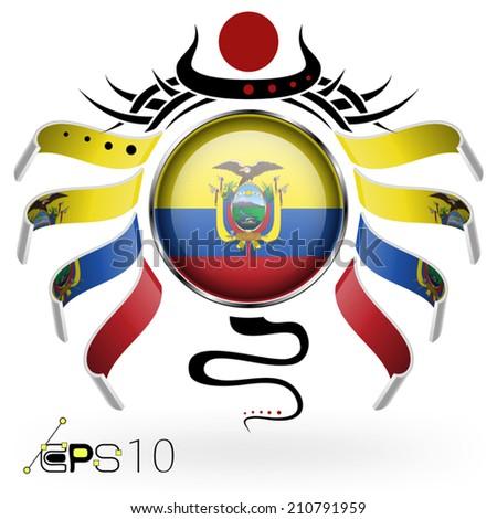 Ecuador Vector Flag Flag of Ecuador Stock Vector