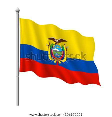 Ecuador Vector Flag Flag of Ecuador Vector