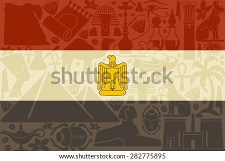 Flag of Egypt  - stock vector