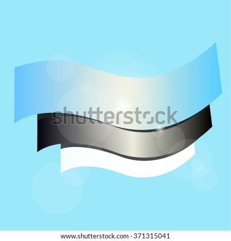 Flag of Estonia on a blue background. Vector illustration. Eps 10 - stock vector