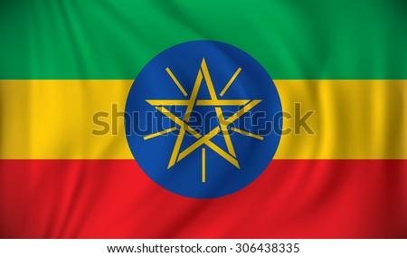 Flag of Ethiopia - vector illustration - stock vector