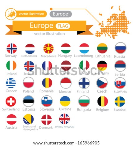 Flag of Europe. vector Illustration. - stock vector