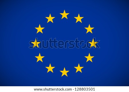 Flag of European Union with correct proportions and color scheme - stock vector