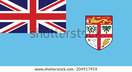 Flag of Fiji. Vector. Accurate dimensions, element proportions and colors. - stock vector