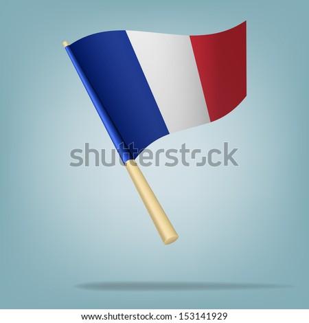 Flag of France. vector illustration - stock vector