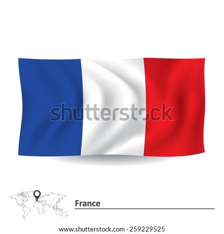 Flag of France - vector illustration - stock vector