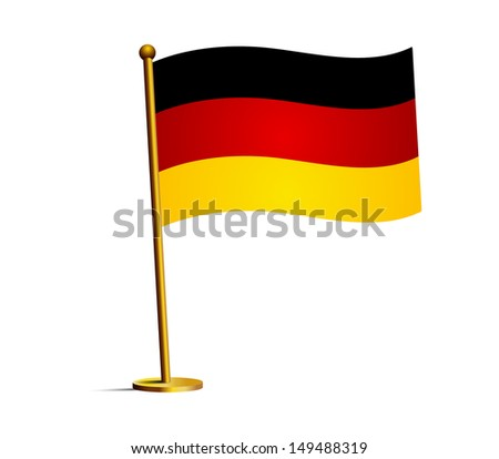 flag of germany - stock vector