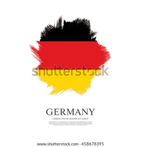 Flag of Germany made in brush stroke background
