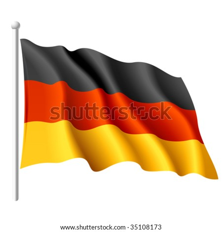 Flag of Germany. Vector. - stock vector