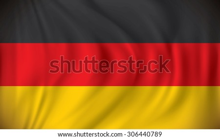 Flag of Germany - vector illustration - stock vector