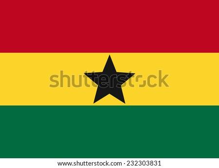 Flag of Ghana vector illustration - stock vector