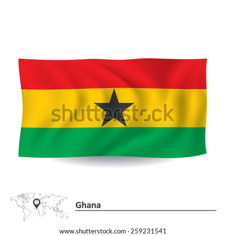 Flag of Ghana - vector illustration - stock vector