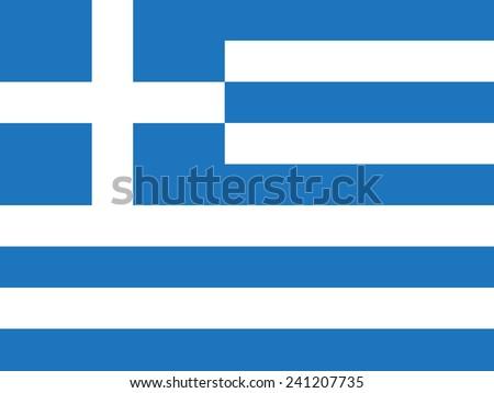 flag of Greece - stock vector