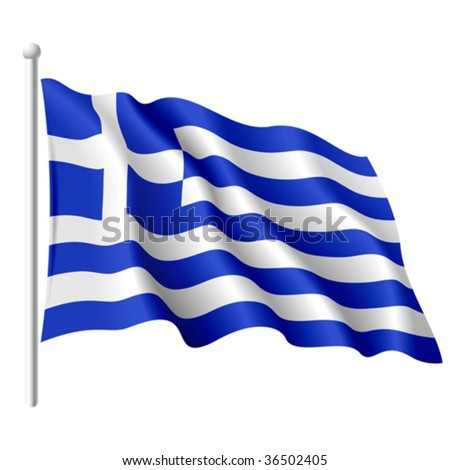 Flag of Greece. Vector. - stock vector