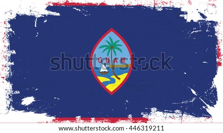 Flag of Guam in the ancient.