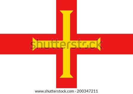 Flag of Guernsey. Vector illustration. - stock vector