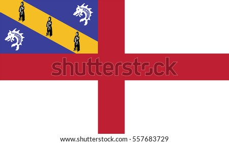 flag of herm vector icon illustration eps10