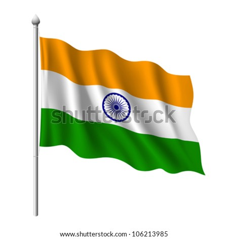 Flag of India, vector illustration - stock vector
