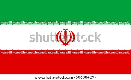 Flag Iran Correct Size Proportions Colors Stock Vector 506884297