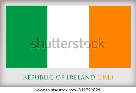 Flag of Ireland.Ireland flag vector. - stock vector