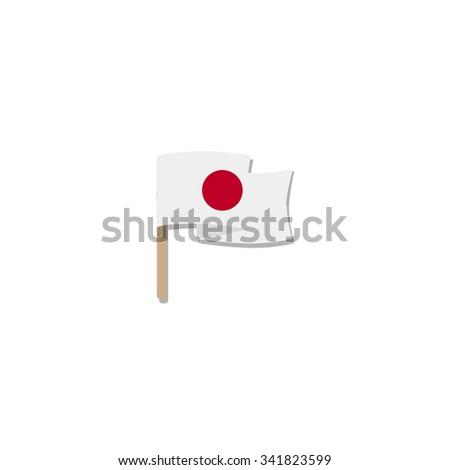 Flag of Japan - vector illustration - stock vector