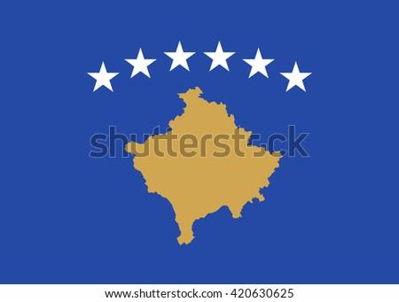 Flag of Kosovo - stock vector