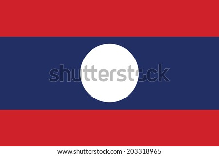 Flag of Laos. Vector. Accurate dimensions, element proportions and colors. - stock vector