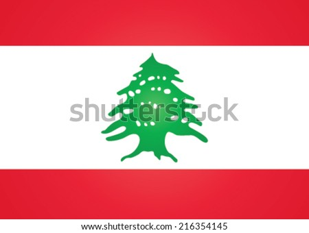 flag of Lebanon - stock vector