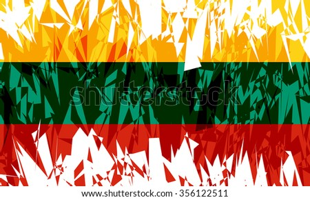 Flag of Lithuania in grunge style. Vector illustration.