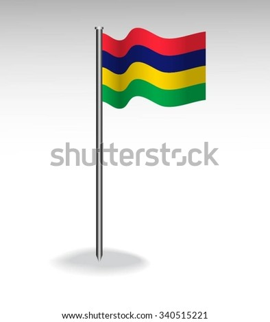 Flag of Mauritius - stock vector