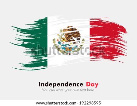 Flag of Mexico - stock vector