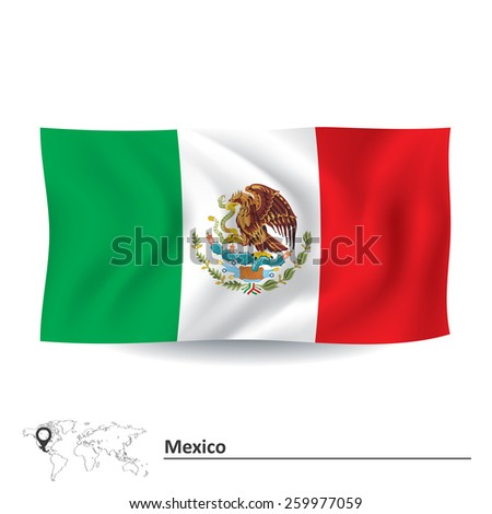 Flag of Mexico - vector illustration - stock vector