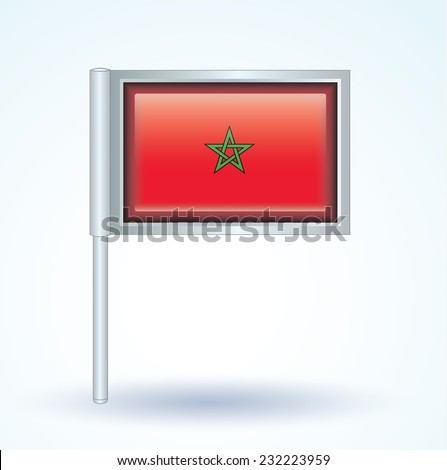 Flag of Morocco, vector illustration