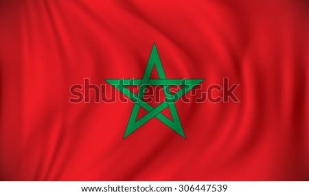 Flag of Morocco - vector illustration - stock vector