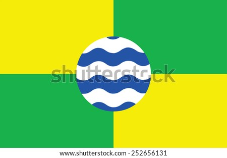 Flag of Nairobi, Kenya. original and simple Nairobi city flag isolated vector in official colors and Proportion Correctly  - stock vector