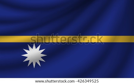Flag of Nauru, vector illustration - stock vector