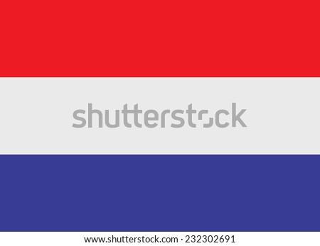 Flag of Netherlands vector illustration - stock vector