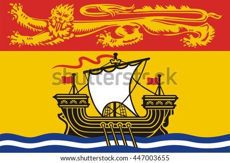 Flag of New Brunswick of Canada - stock vector