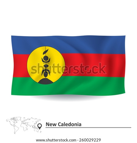 Flag of New Caledonia - vector illustration - stock vector