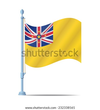 Flag of Niue vector illustration