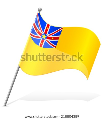 flag of Niuean vector illustration isolated on white background - stock vector