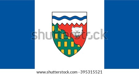 Flag of Northwest Territories Province or territory of Canada. Vector illustration. - stock vector